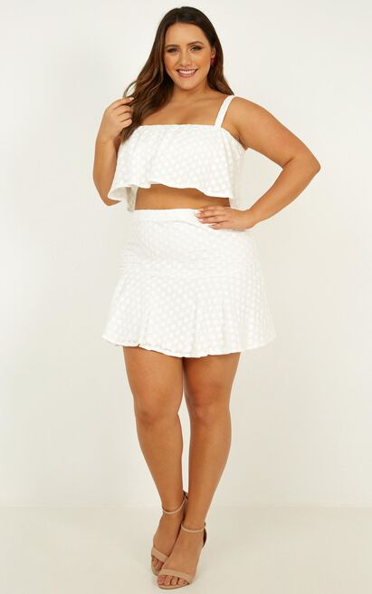 Sweetest Kiss Two Piece Set In white anglaise - 16 (XXL), White, hi-res image number null