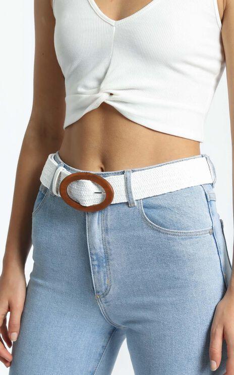 Shoda Belt in White