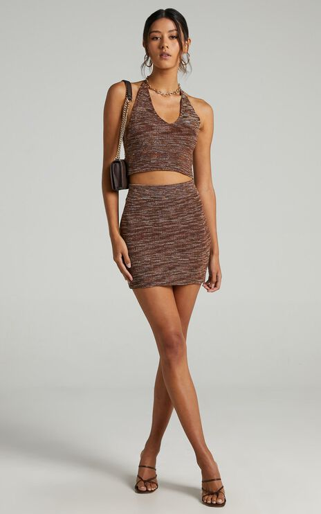Naveena Two Piece Set in Chocolate Space Dye