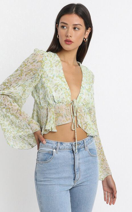 Dance It Out Top in Citrus Floral