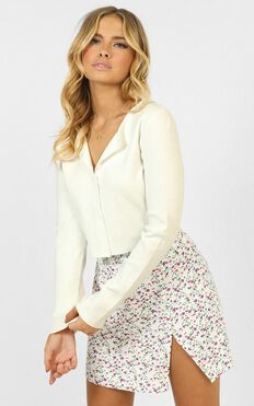 Forever Here Knit Cardigan In White