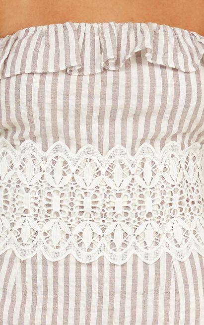 String of love Dress in mocha stripe - 12 (L), Mocha, hi-res image number null