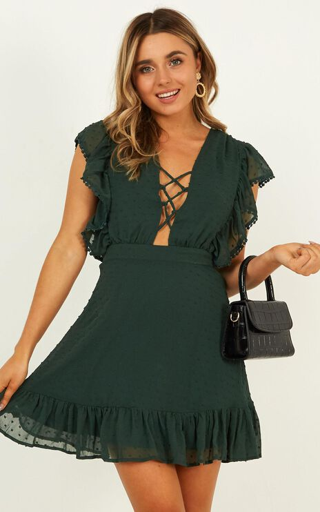 Living In The Moment Dress In Emerald