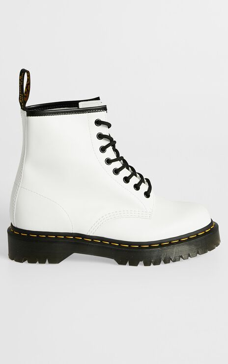 Dr. Martens - 1460 Bex 8 Eye Boot in White Smooth