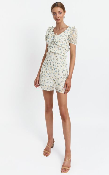 Millar Dress in Cream Floral