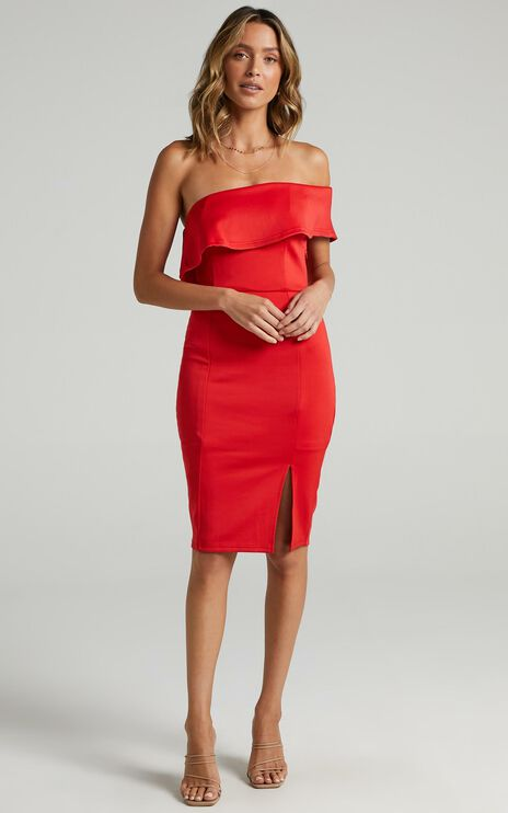 Seven Seas Dress In Red