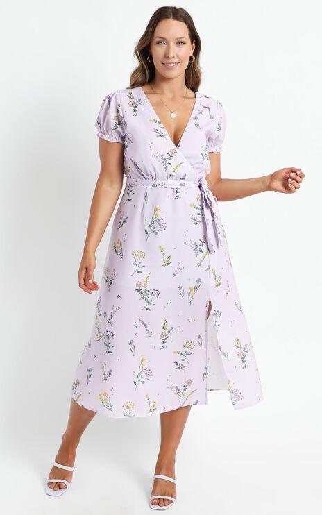 Sudden Life Dress in Lavender Botanical Floral