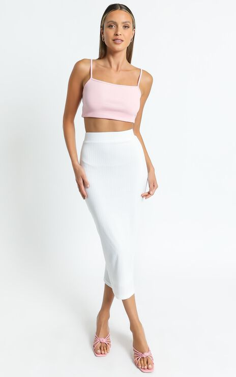 Nocturne Skirt in White