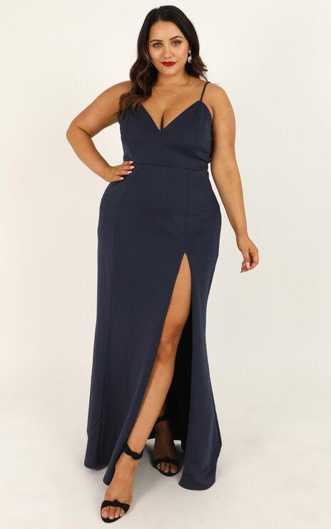 Dare To Dream Maxi Dress In Steel Blue