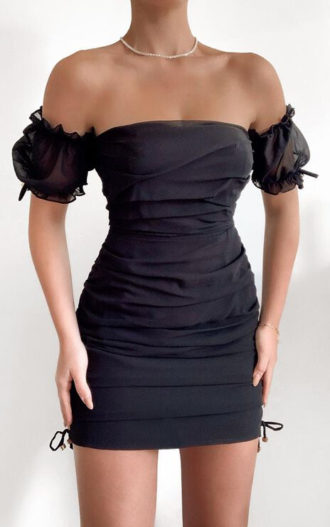 Cant Get You Off My Mind Dress in Black
