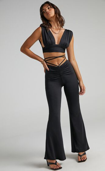 Aggy Two Piece Set in Black