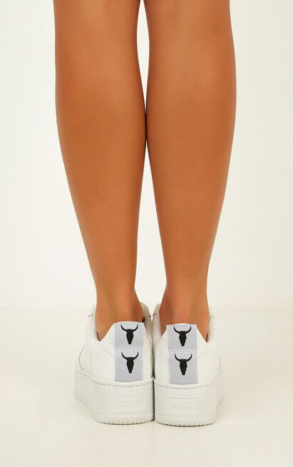 Windsor Smith - Racer Sneakers in white leather - 10, White, hi-res image number null