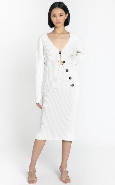 Vassalli Knitted Two Piece Set in White