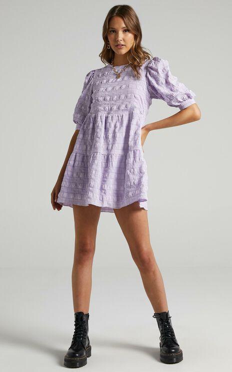 Darcia Dress in Lilac Check