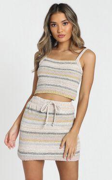 Forever Sunshine Knit Top In Cream Stripe