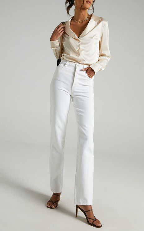Rollas - Classic Straight Jean in Vintage White