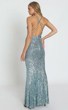 Pippin Dress In Slate Blue
