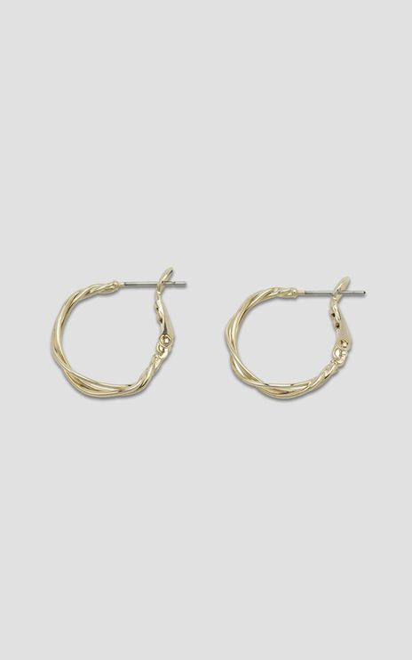 Jolie & Deen - Iris Hoop Earrings in Gold
