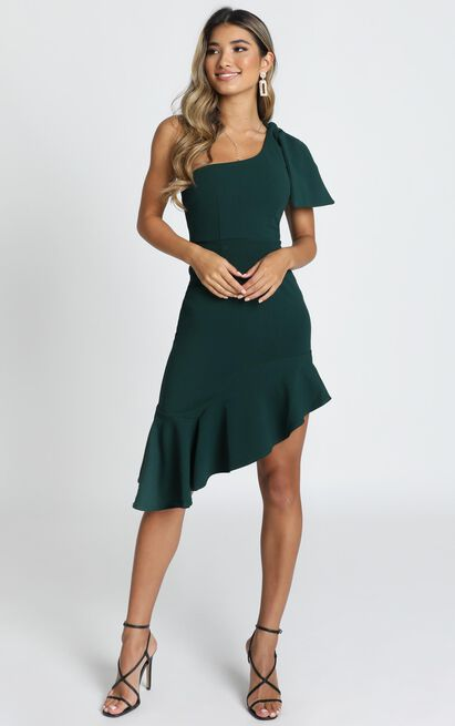 Listen To The Radio dress in emerald green - 6 (XS), Green, hi-res image number null