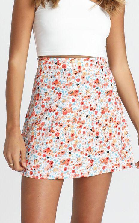 Running Away Skirt in Multi Floral