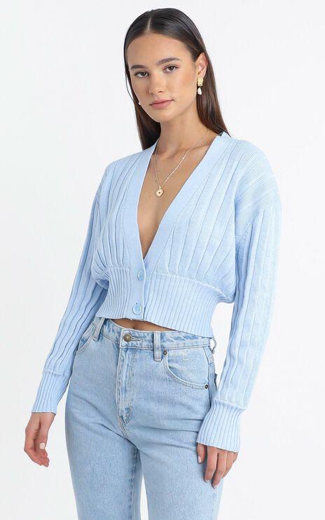 Jayce Knit Cardigan in Blue