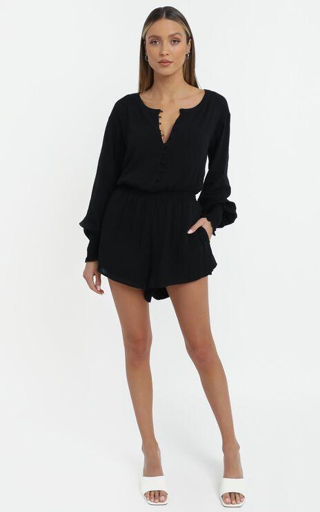 Javana Playsuit in Black