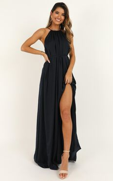 Graceful Dancer Dress In Navy