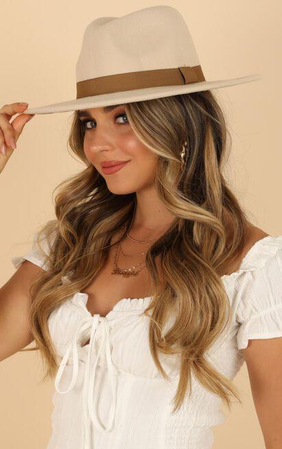 Maya Fedora Hat In Cream, , hi-res image number null