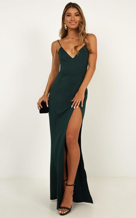 Dare To Dream Maxi Dress In Emerald