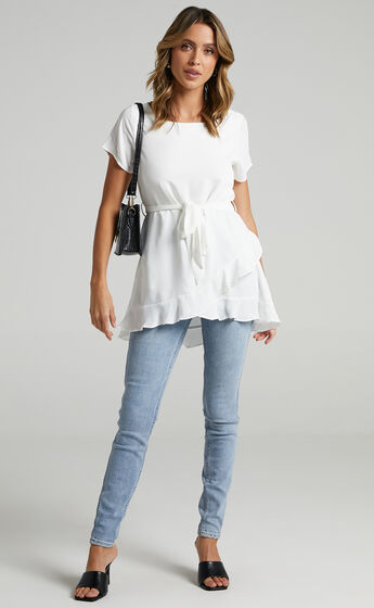 Work Something Out top in White