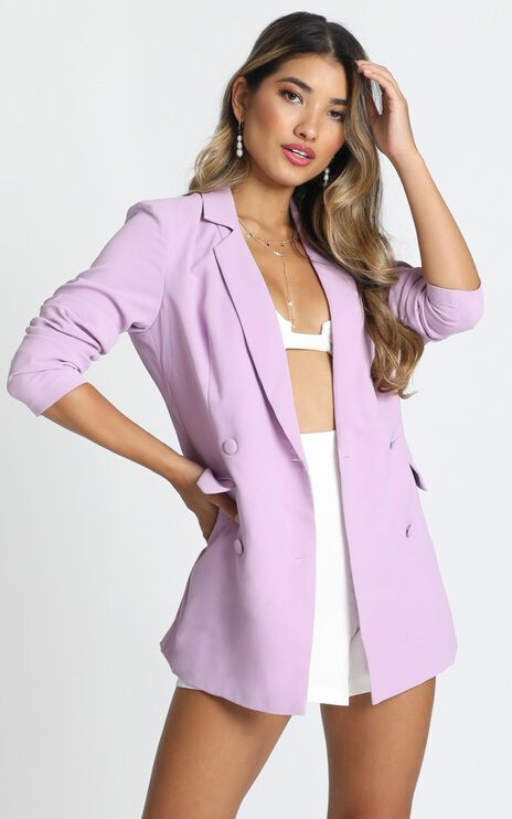 Quick To Win Blazer in Lilac