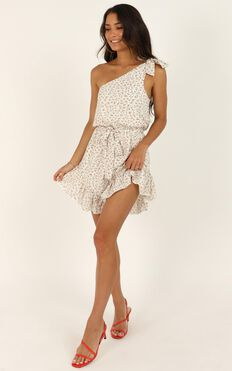Long Live Playsuit In White Floral