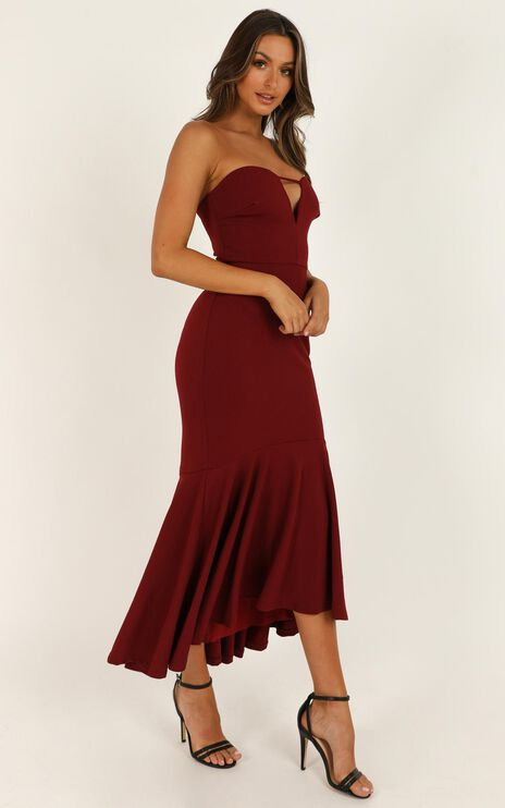The Main Event Dress In Wine