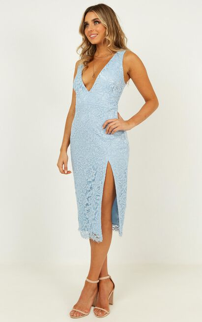 My Kind of Party Dress in light blue lace - 14 (XL), Blue, hi-res image number null