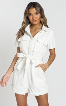 Kade Playsuit In White