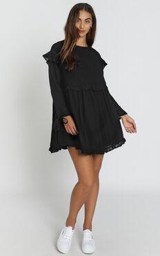 Serafina Smock Dress in black