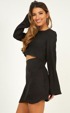 Cut To The Feeling Two Piece Set In Black