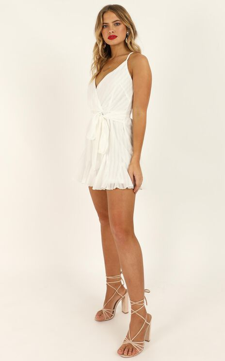 Following The Stars Playsuit In White