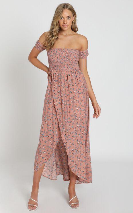 Lovestruck Maxi Dress In Blush Floral