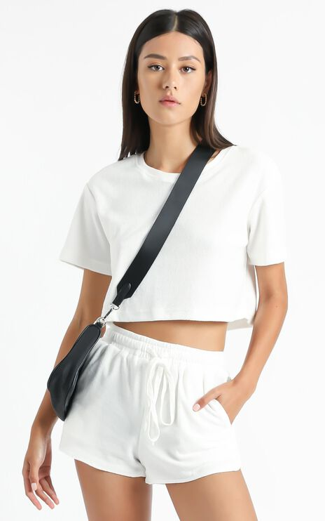 Nori Two Piece Set in White Terry Towelling