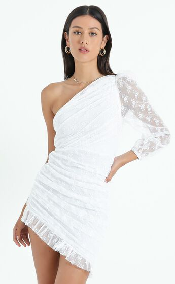 Its A Game Dress in White Lace