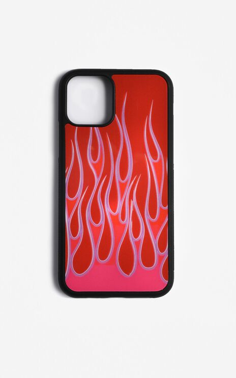 Flames iPhone Case In Red And Pink