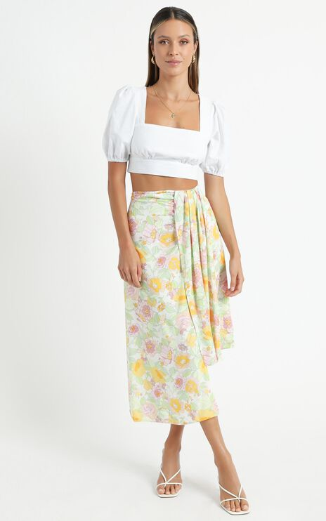 Valley Skirt in Linear Floral