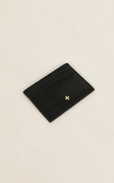 Peta and Jain - Izzy Card Holder In Black Croc