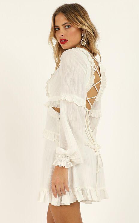 I Feel Great Dress In White Lurex Stripe