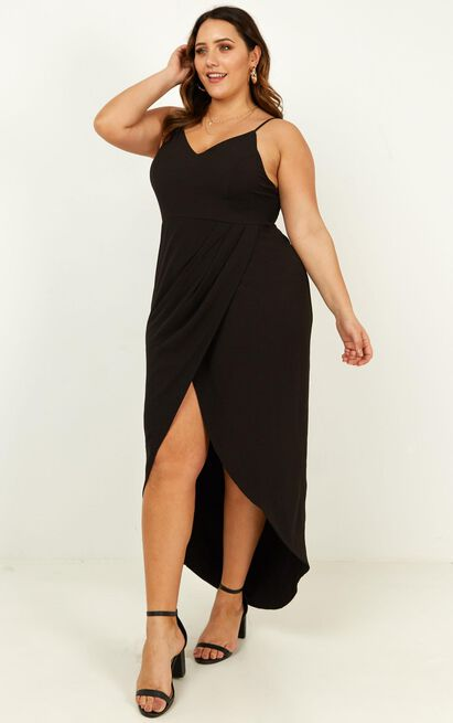 Lucky Day Maxi dress in black - 4 (XXS), Black, hi-res image number null