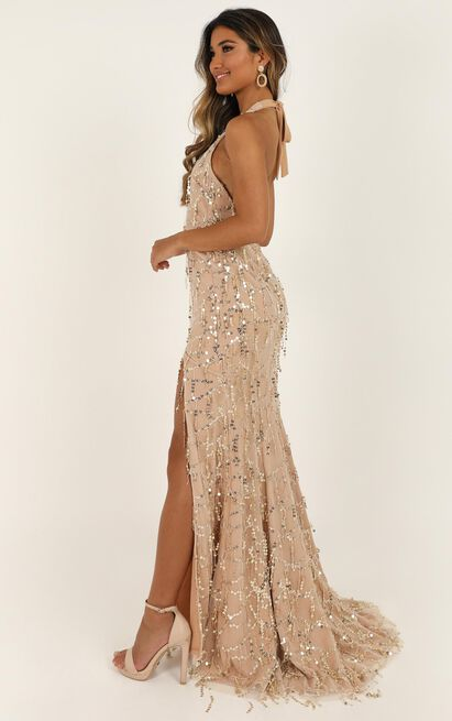 Love Dont Cost A Thing Dress in rose gold sequin - 18 (XXXL), Rose Gold, hi-res image number null
