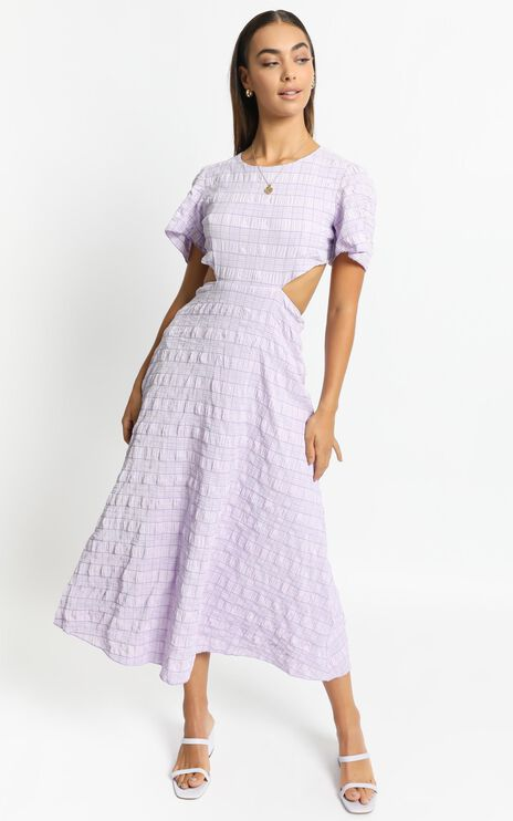 Akara Dress in Lilac Check