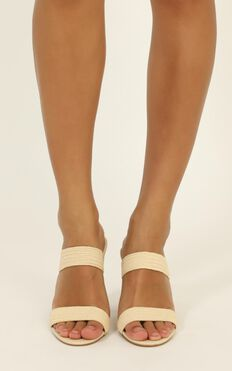 Billini - Nora Heels In Natural Stretch Woven