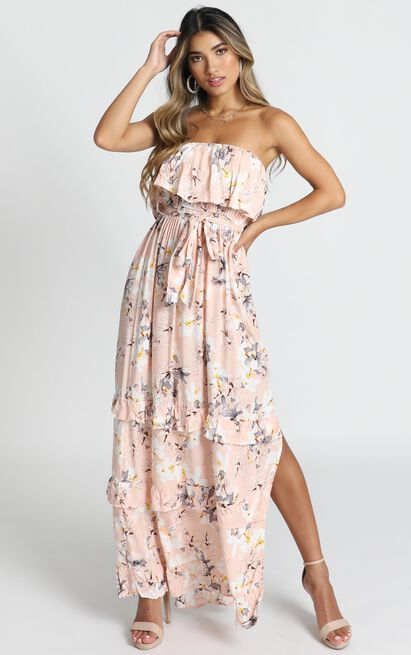Ryley Dress in pink floral - 14 (XL), Pink, hi-res image number null